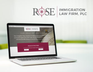 Immigration Law Logo Identity and Website